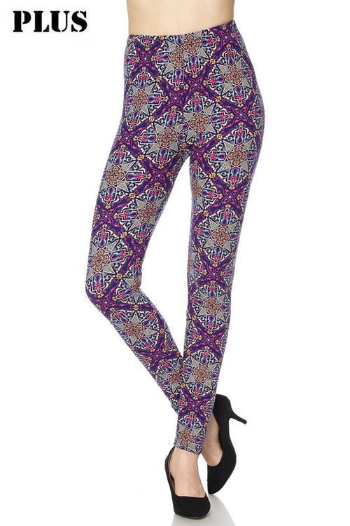 New Curvy Paisley Print Leggings