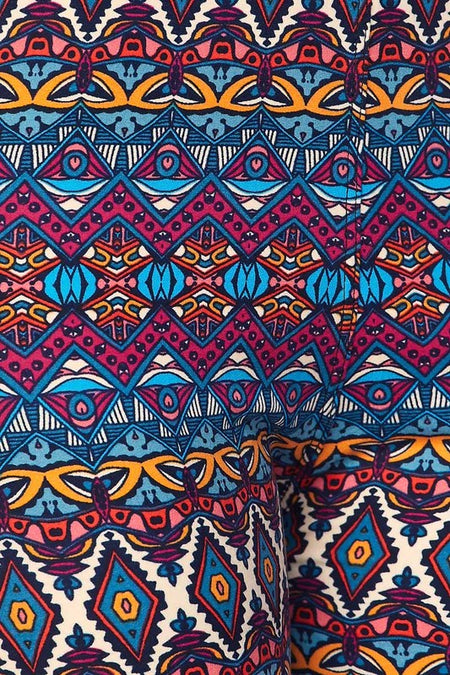 Bright Colored Paisley Print Leggings