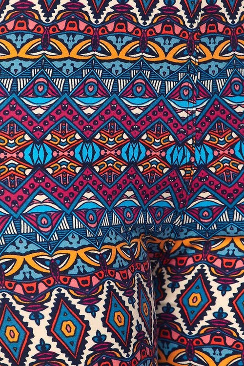 Curvy Tribal Print Leggings