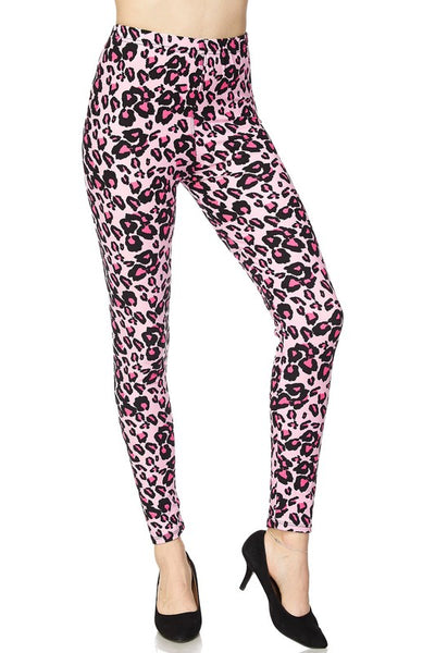 Cheetah Print Yummy Brushed Ankle Leggings