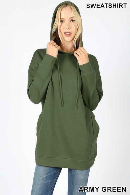Hoodie w/ Pockets - Navy and Army Green