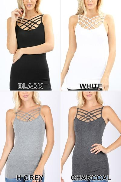 Famous Criss Cross Tanks
