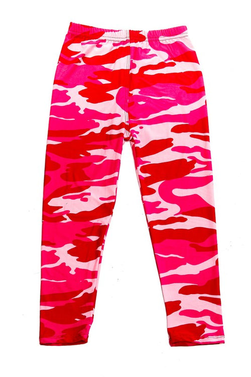 Pink Camo Leggings - Kids