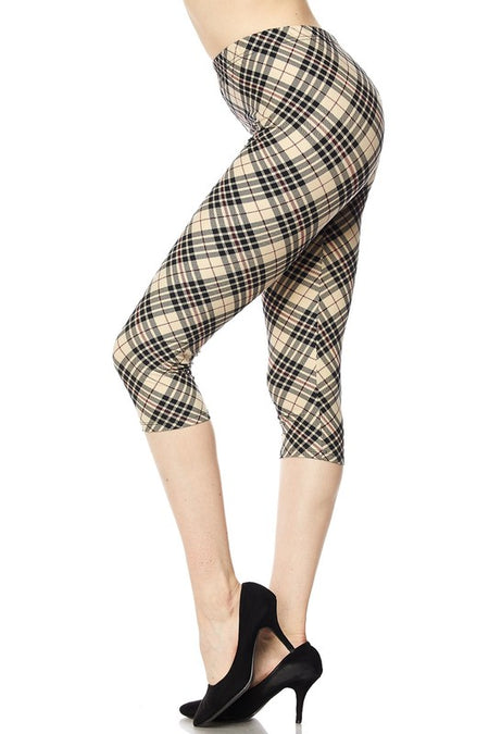 Baroque Capri Leggings - Curvy