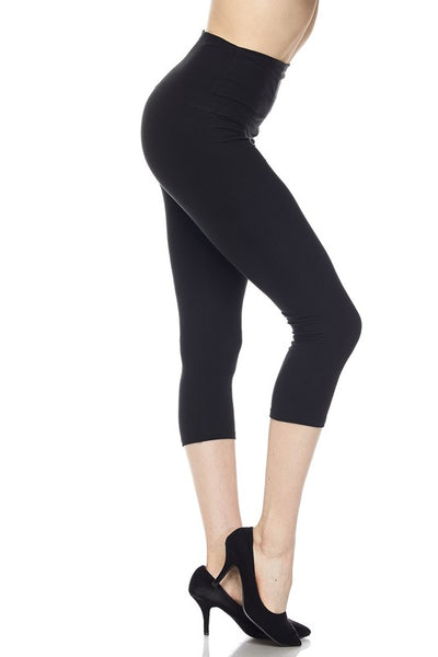 5 Inch Yoga Capri Black