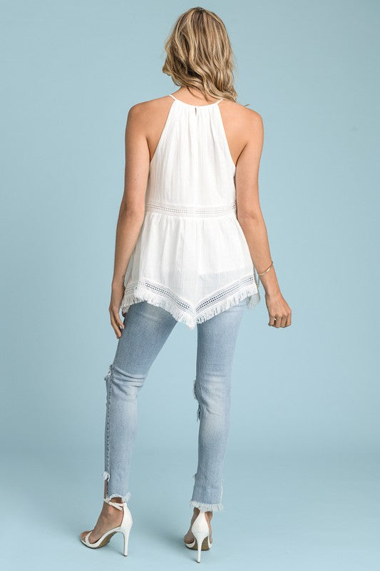 Halter Neck Top - White