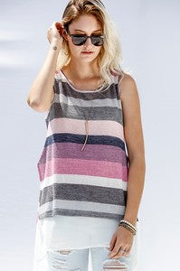 Multi Color Sleeveless