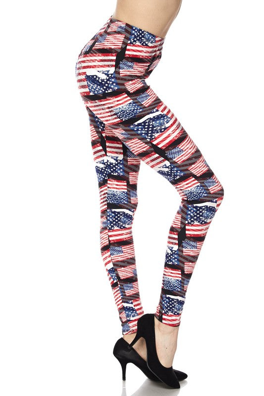 Flag Three Dimensional Leggings