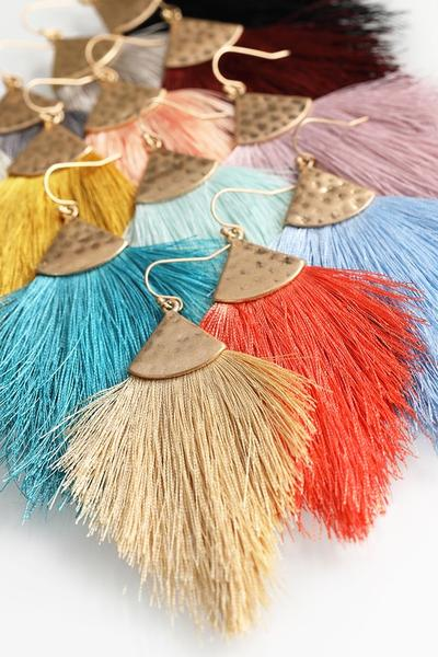Tassel Hook Earrings - Various Colors