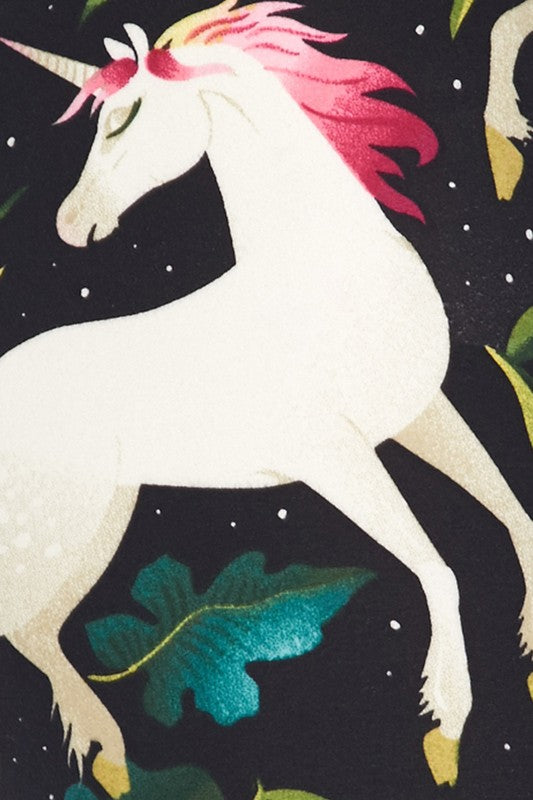 Fantasy Unicorn Print Buttery Soft Leggings - Kids