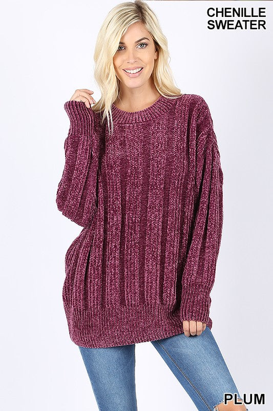 Comfy & Cozy Chenille Sweater - 2 Colors