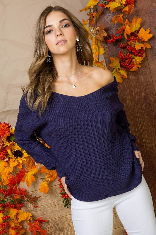 Multi Wear Twist Sweater - 2 Colors