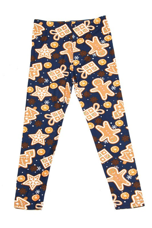 Gingerbread Yummy Brushed Ankle Leggings - Kids