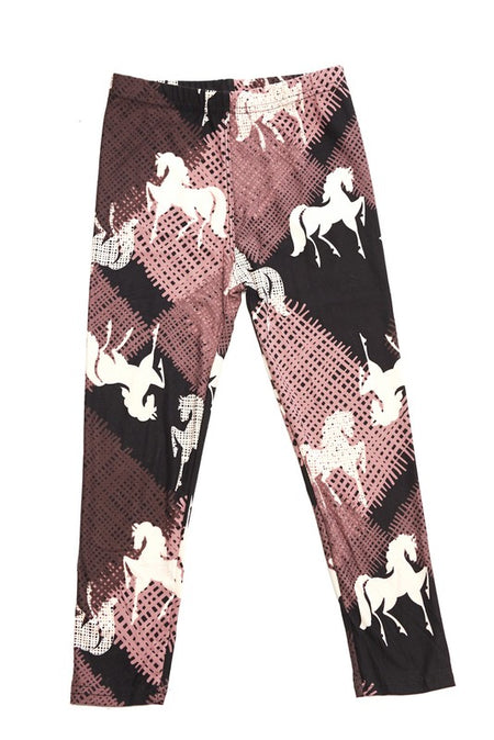 Spooky Floral Cat Leggings - Kids