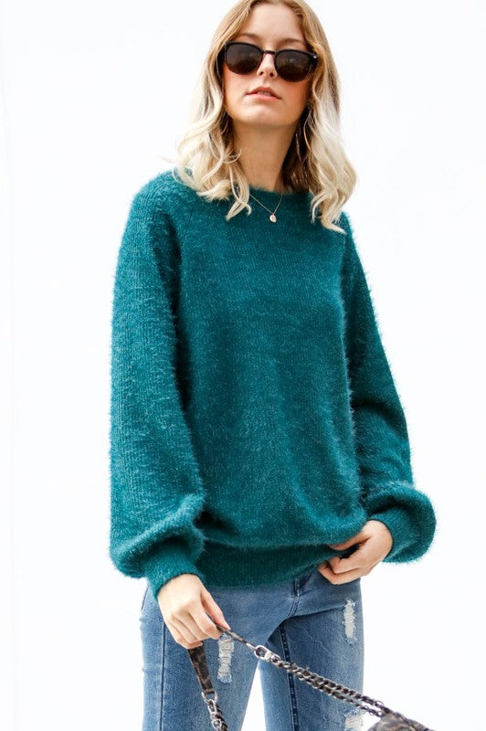 Fuzzy Dream Sweater Top- More Colors