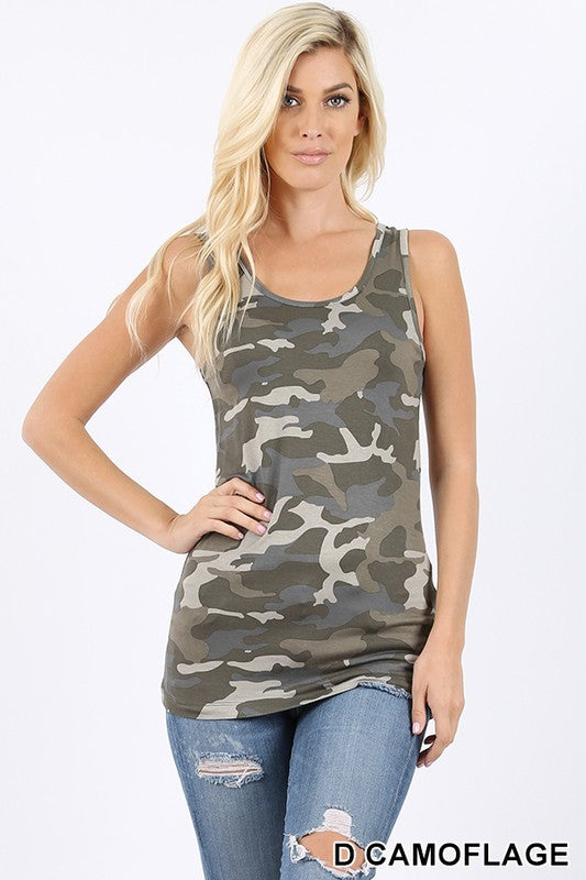 Camo Tanks- 2 Colors