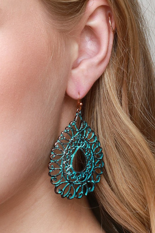Tear Drop Filigree Earnings
