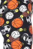 Athletic Ball Play Print Leggings