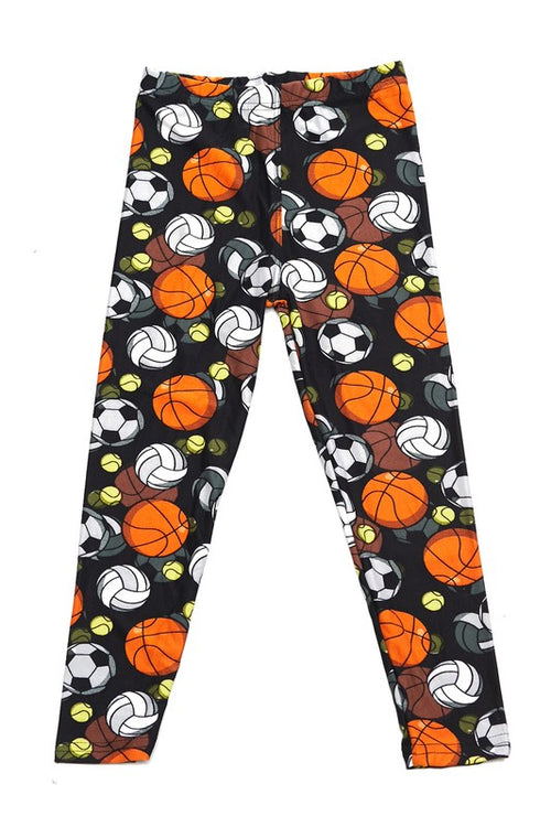 Athletic Ball Play Print Leggings - Kids