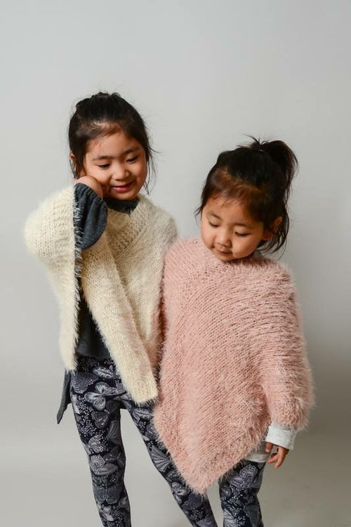 Kids Fuzzy Fashion Poncho