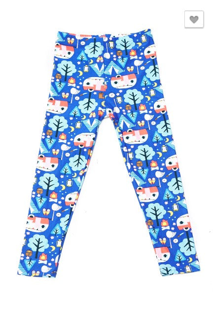 Alpaca Candy Canes Leggings - Kids