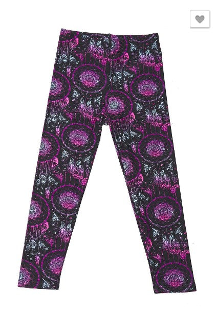 Magical Dream Catcher Print Leggings - Kids