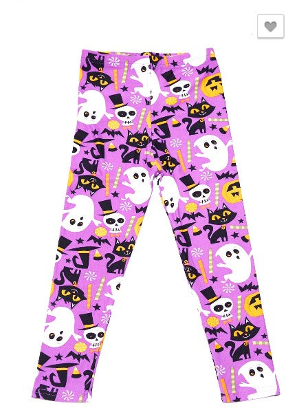 I Love You Paris Print Brushed Ankle Leggings - Kids