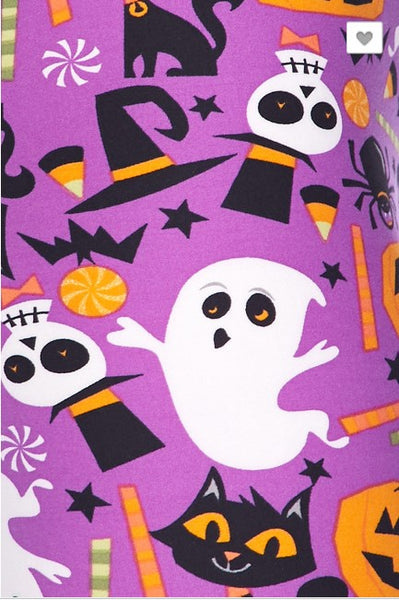 Ghosts and Pumpkin Leggings