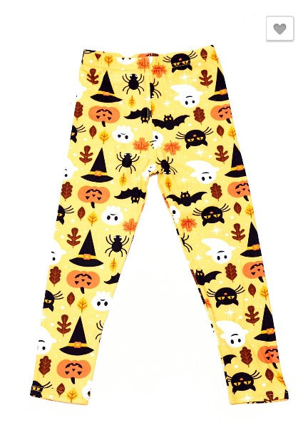 Scary Cats and Ghosts Leggings - Kids