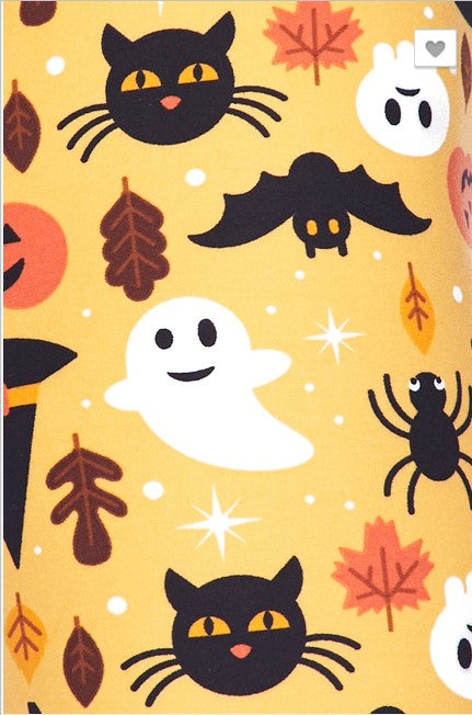 Scary Cats and Ghosts Leggings