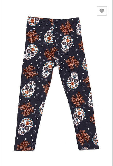 Trick or Treat Day of the Dead Leggings - Kids