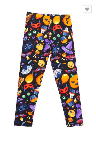 Halloween Fun Party Leggings - Kids