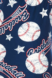 Baseball League Print Buttery Soft Leggings - Kids