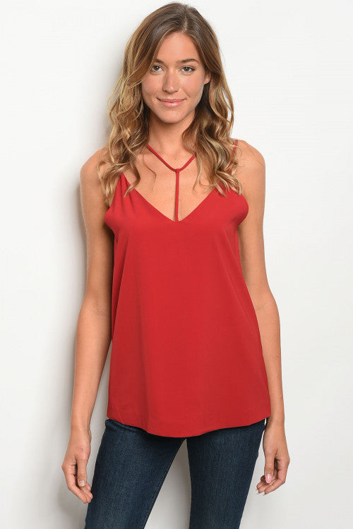 Sleeveless Harness Neck Tank