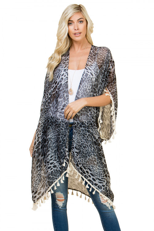 Sheer Animal Print Kimono Take Two