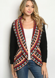 Multi Color Detailed Crochet Cardigan
