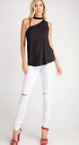 Choker Cut Out Shoulder Top - Pre-Order - ETA 6.12
