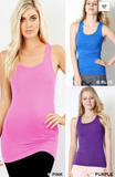 Racer Back Tank- Various Colors