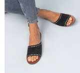 Studded Asymmetrical Slide - 2 Colors
