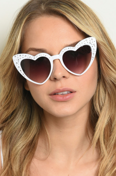 Heart Bling Sunglasses