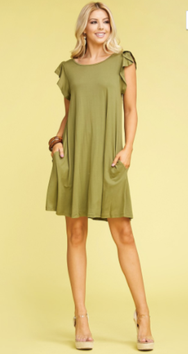 Pocket A-Line Tunic Dress W/ Pockets