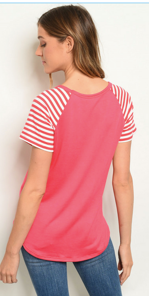 Stripes and Pocket Tee