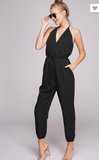 Sexy V-Neck Open Back Jumpsuit - 2 Colors