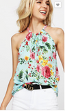 Falling 4 Flowers Halter - 2 Colors