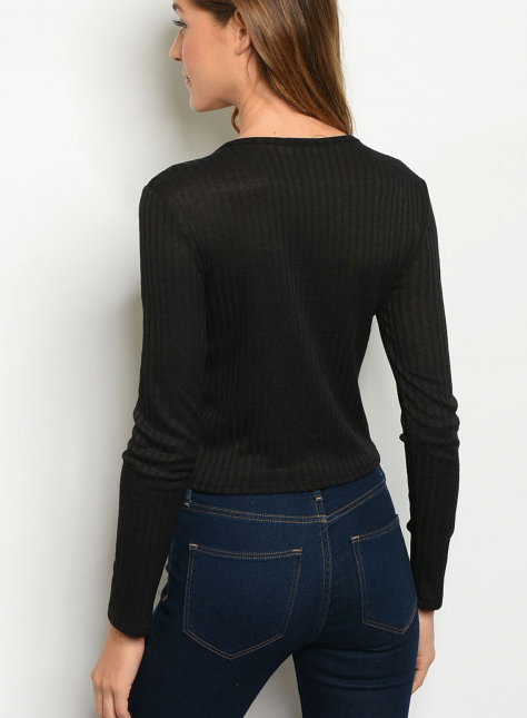 Cropped Rib Top - SDT