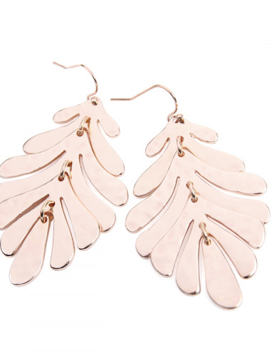 Rose Leaf Earrings