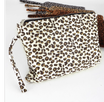 Ivory Leopard Clutch