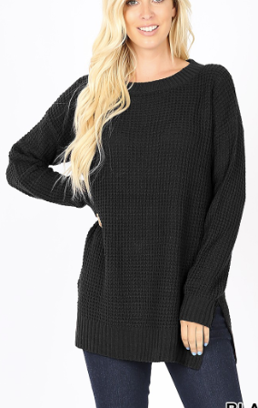The Casual Waffle Sweater