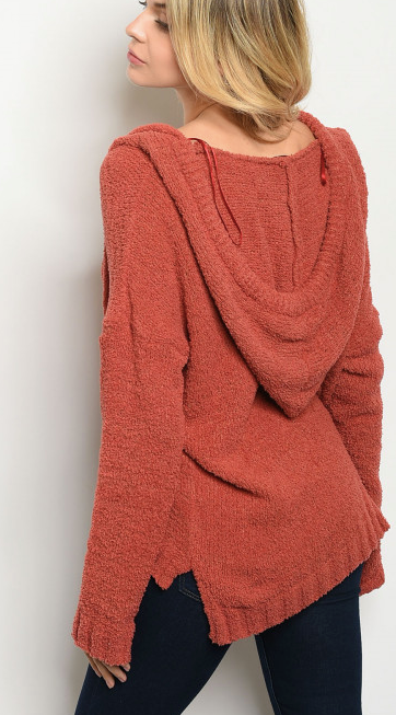 Chenille Knit Hoodie
