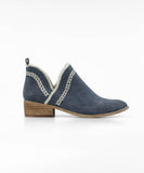 Slip On Navy Detailed Moccasin